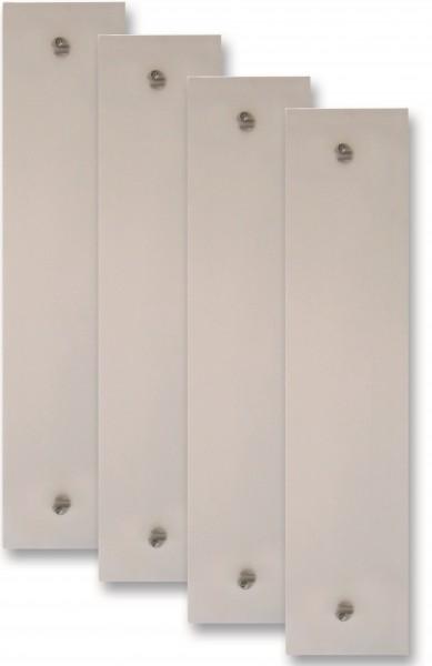 Füllung 720x170x6mm Acrylglas weiß sat.