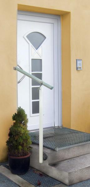 GAE3 Alu weiß/Edelstahl Geländerset für Eingang